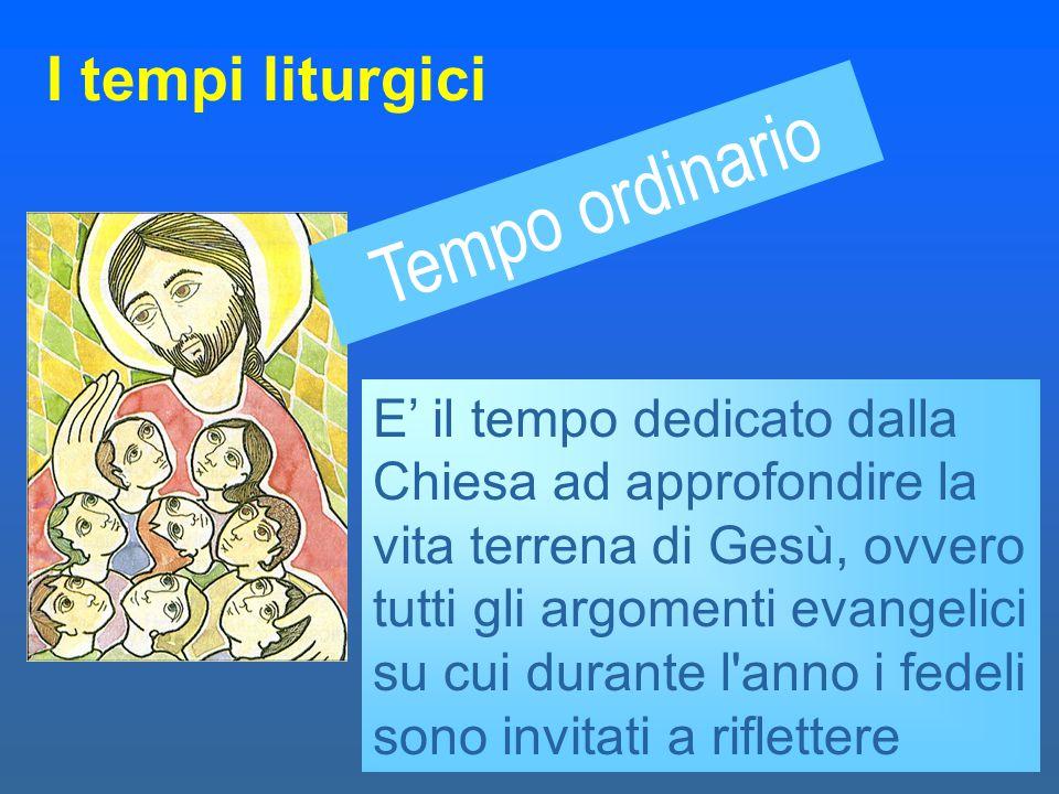 Le Feste particolari I tempi liturgici Sono tutte quelle feste che servono a richiamare i fedeli ad approfondire i vari lati della fede e della realtà di vita dei cristiani Epifania Sacra Famiglia Santi Santi Patroni Tutti i santi