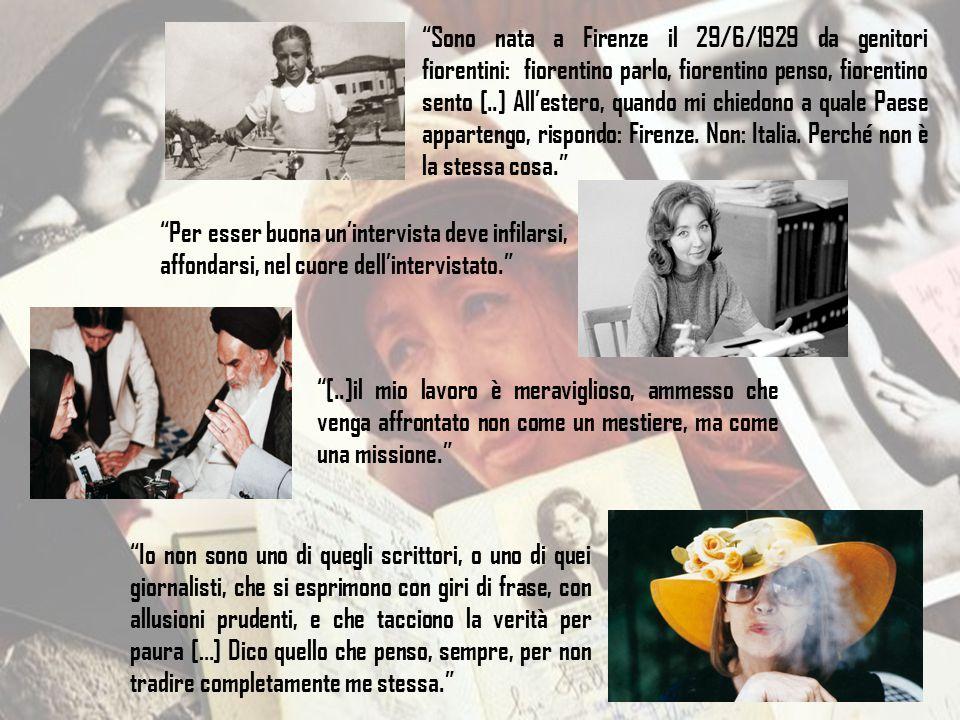 """""""Sono nata a Firenze il 29/6/1929 da genitori fiorentini: fiorentino parlo, fiorentino penso, fiorentino sento [..] All'estero, quando mi chiedono a q"""