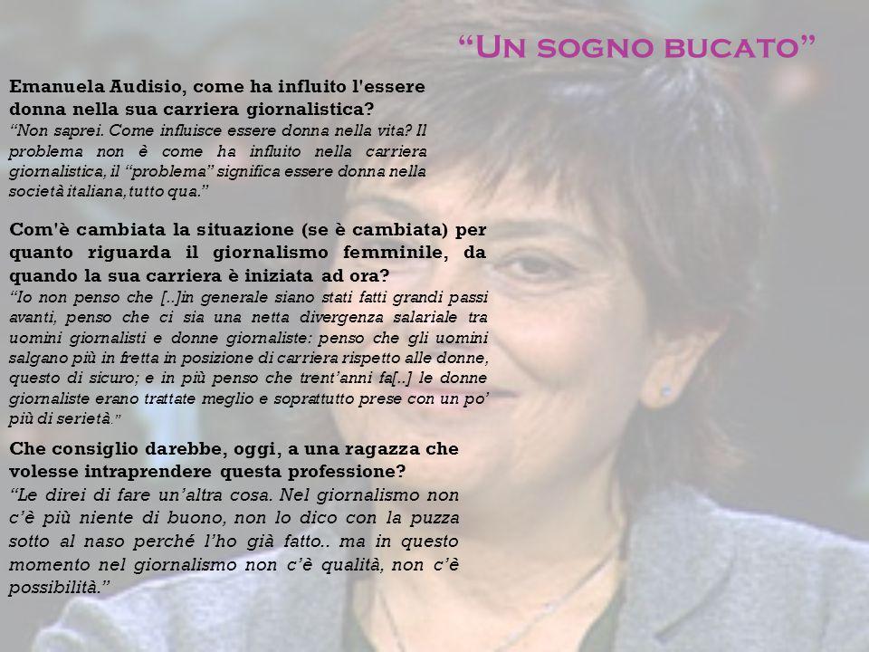 """Emanuela Audisio, come ha influito l'essere donna nella sua carriera giornalistica? """"Non saprei. Come influisce essere donna nella vita? Il problema n"""