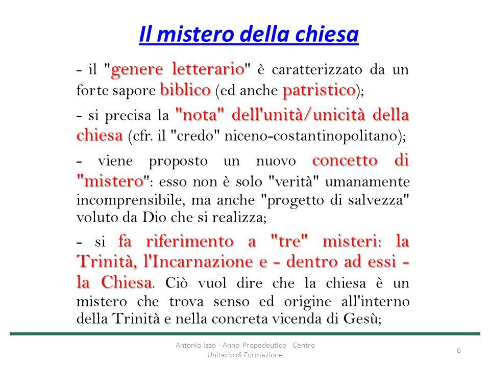 La beata Vergine e la chiesa Il n.63: La Vergine Madre, tipo della Chiesa, ed il n.