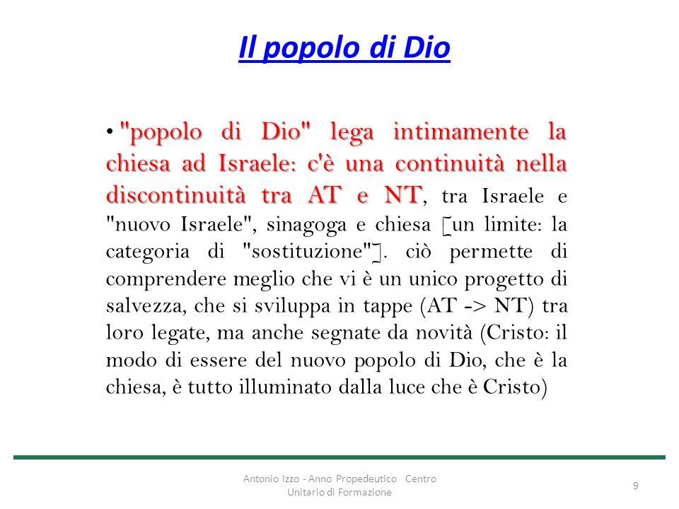 Il popolo di Dio popolo di Dio insiste sulla dimensione storica.
