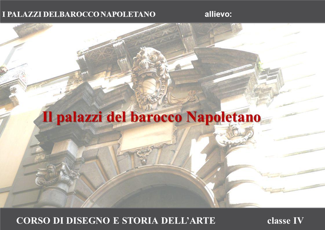 CORSO DI DISEGNO E STORIA DELL'ARTEclasse IV I PALAZZI DELBAROCCO NAPOLETANO allievo: Il palazzi del barocco Napoletano