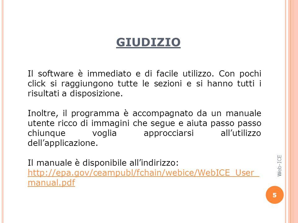 Il software è immediato e di facile utilizzo.
