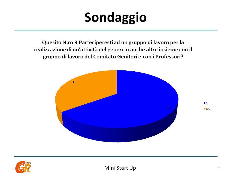 Sondaggio Mini Start Up 11