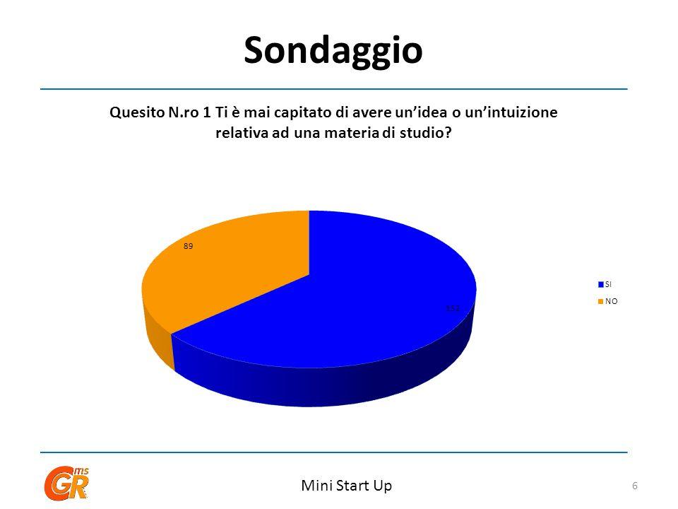Sondaggio Mini Start Up 6