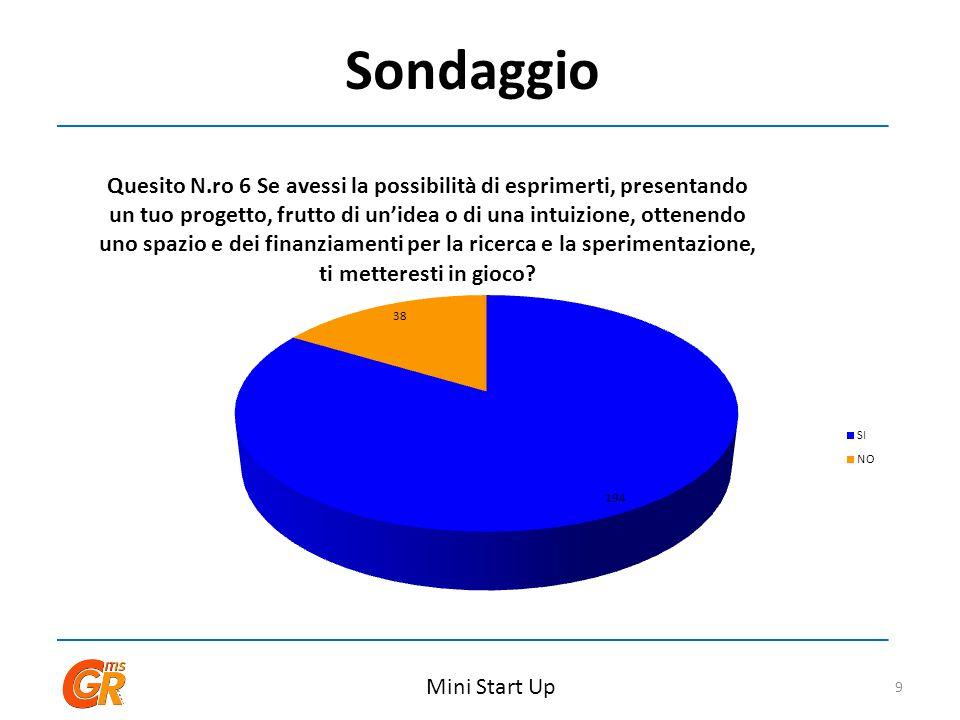 Sondaggio Mini Start Up 9