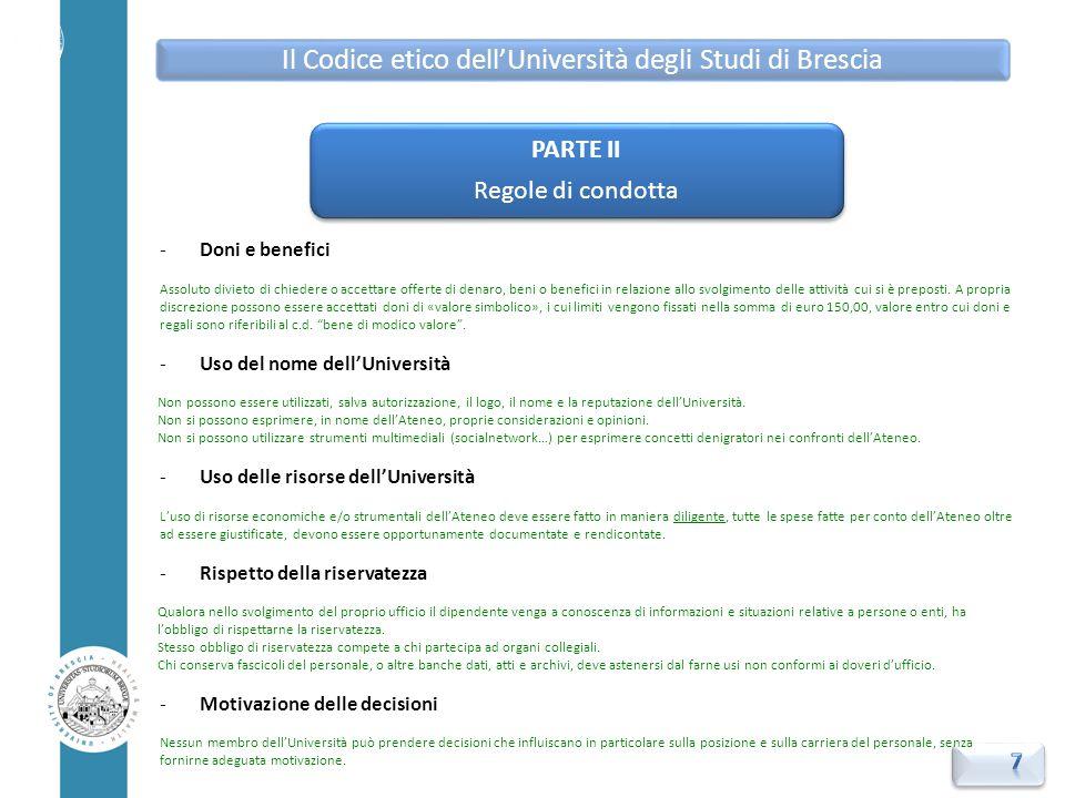 -Osservanza e violazione del Codice etico Tutti i membri dell'Università hanno il DOVERE di -prendere visione del Codice -applicarne i contenuti -osservarne le prescrizioni.
