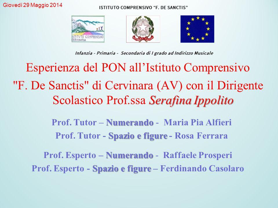 Numerando Prof.Tutor – Numerando - Maria Pia Alfieri Spazio e figure Prof.