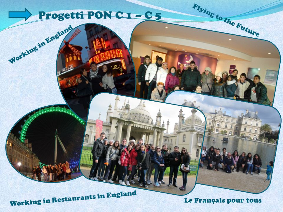 Progetti PON C 1 – C 5 Flying to the Future Le Français pour tous