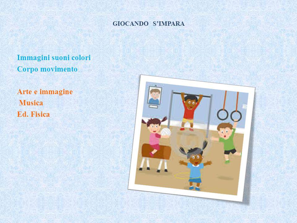 GIOCANDO S'IMPARA Immagini suoni colori Corpo movimento Arte e immagine Musica Ed. Fisica