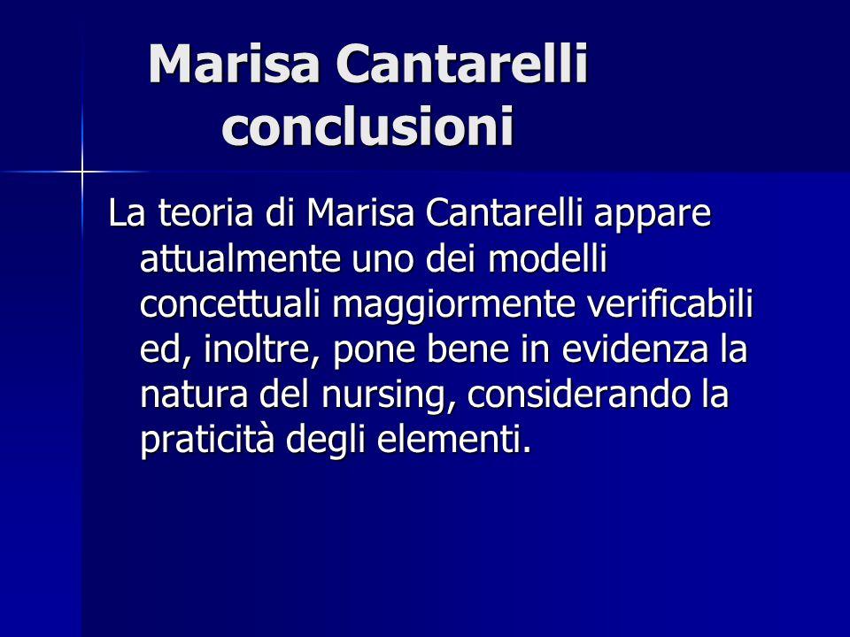 Marisa Cantarelli conclusioni La teoria di Marisa Cantarelli appare attualmente uno dei modelli concettuali maggiormente verificabili ed, inoltre, pon