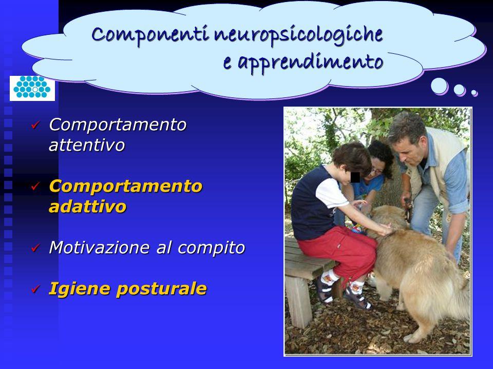 Comportamento attentivo Comportamento attentivo Comportamento adattivo Comportamento adattivo Motivazione al compito Motivazione al compito Igiene pos