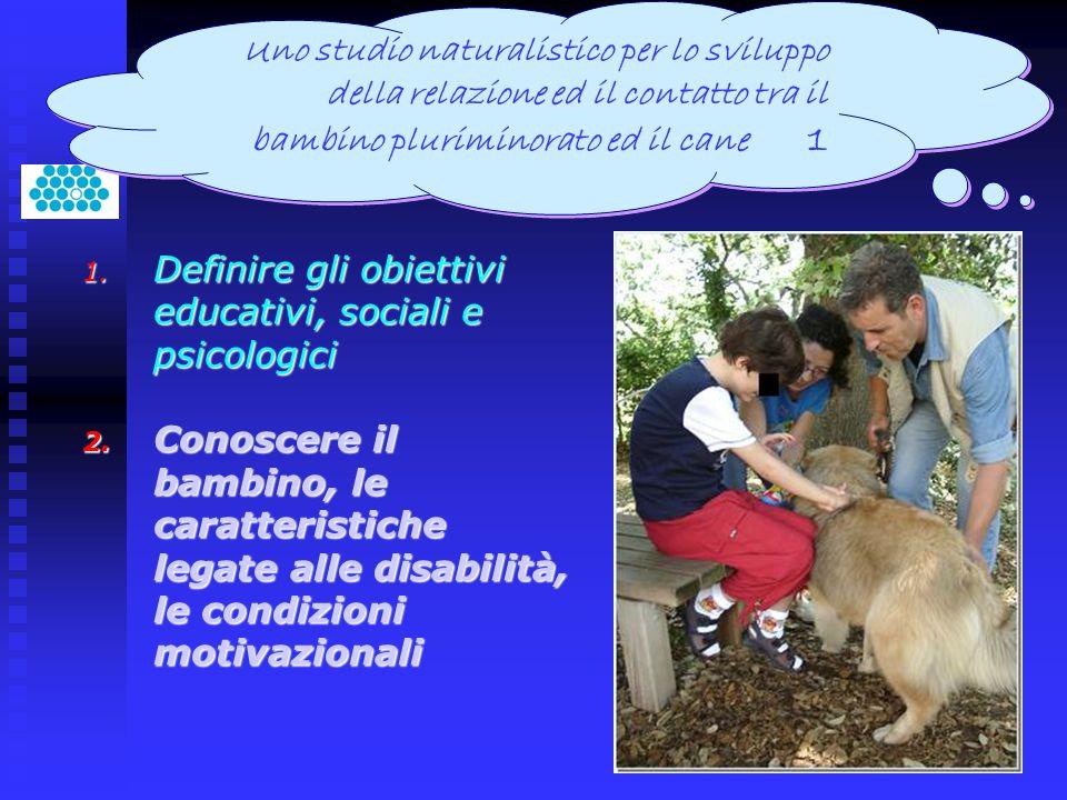 1. Definire gli obiettivi educativi, sociali e psicologici 2. Conoscere il bambino, le caratteristiche legate alle disabilità, le condizioni motivazio