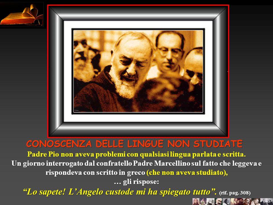 """Un funzionario di polizia di Foggia, per motivi di carriera voleva trasferirsi a Roma e chiese parere a Padre Pio che gli disse """"Ma dove vai?! Stai be"""