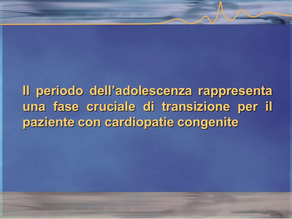 Il periodo dell'adolescenza rappresenta una fase cruciale di transizione per il paziente con cardiopatie congenite
