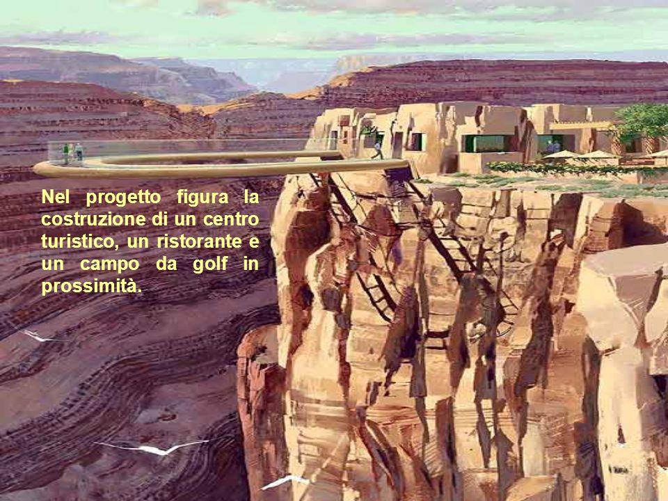 Nel progetto figura la costruzione di un centro turistico, un ristorante e un campo da golf in prossimità.