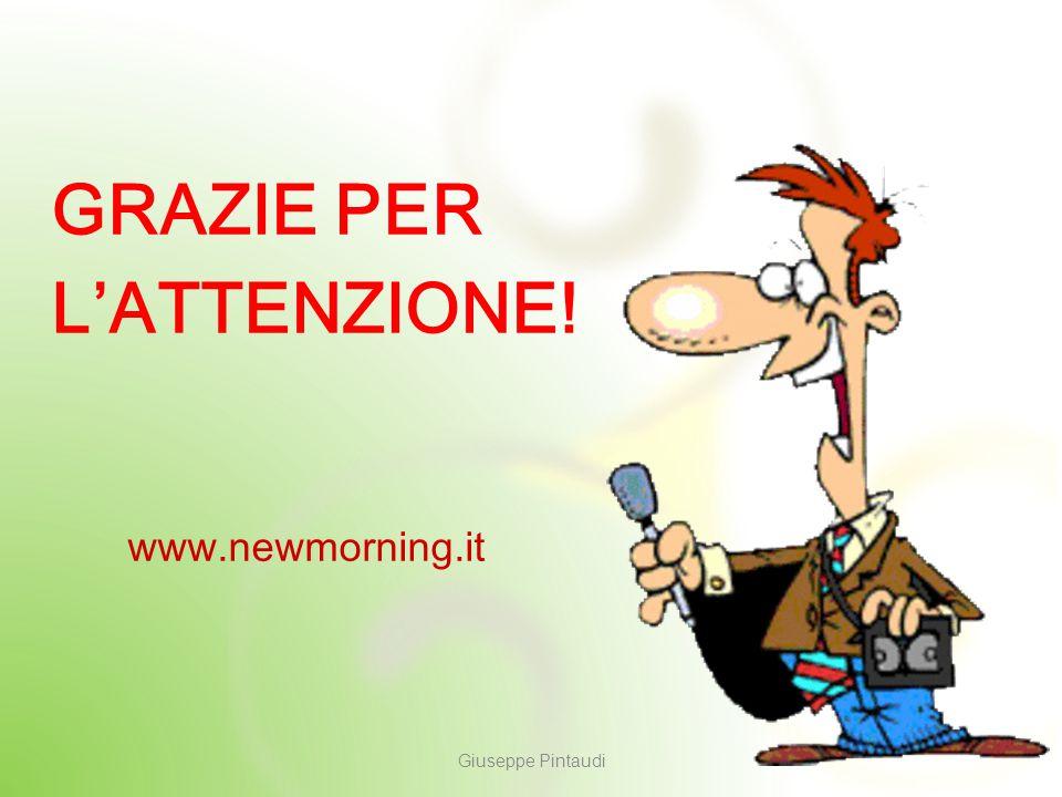 12 GRAZIE PER L'ATTENZIONE! Giuseppe Pintaudi www.newmorning.it
