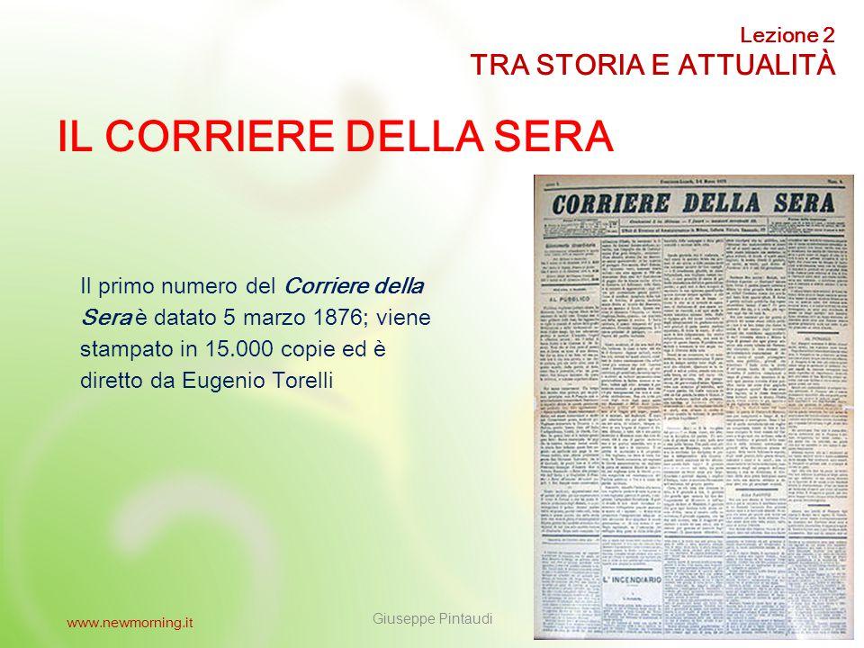 10 IL CORRIERE IN DILIGENZA Il nome Corriere utilizzato da molte testate deriva dal fatto che nel 700 i giornali ricevevano le notizie per corriere, in diligenza con la posta.