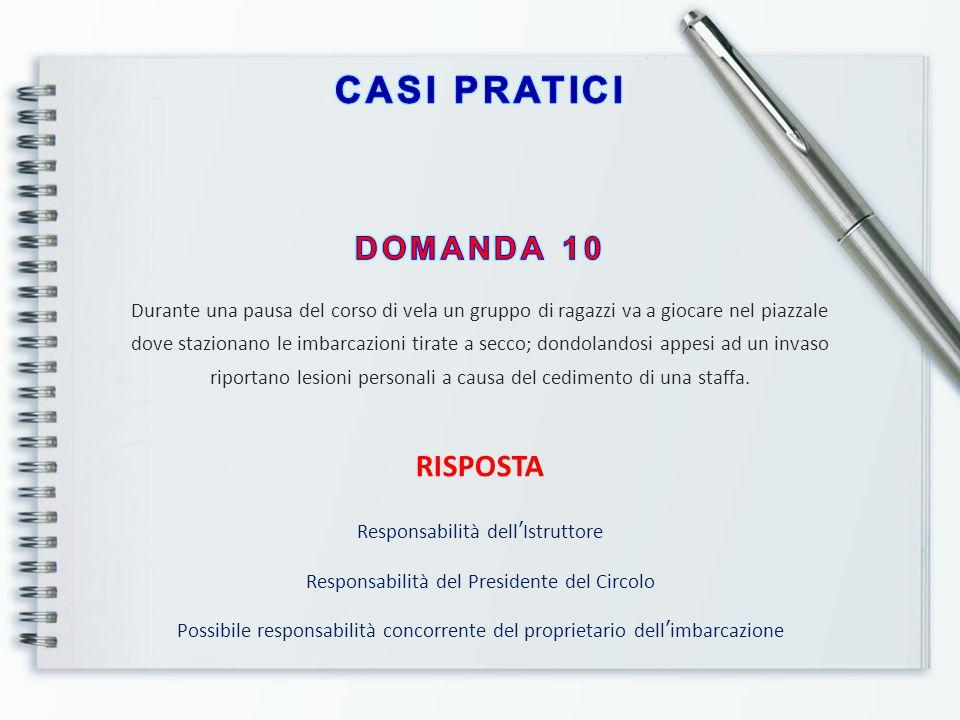 FORMA DI MANLEVA DELLA RESPONSABILITA' Assicurazione personale E' sempre consigliata per chi esercita l'attività di Istruttore.
