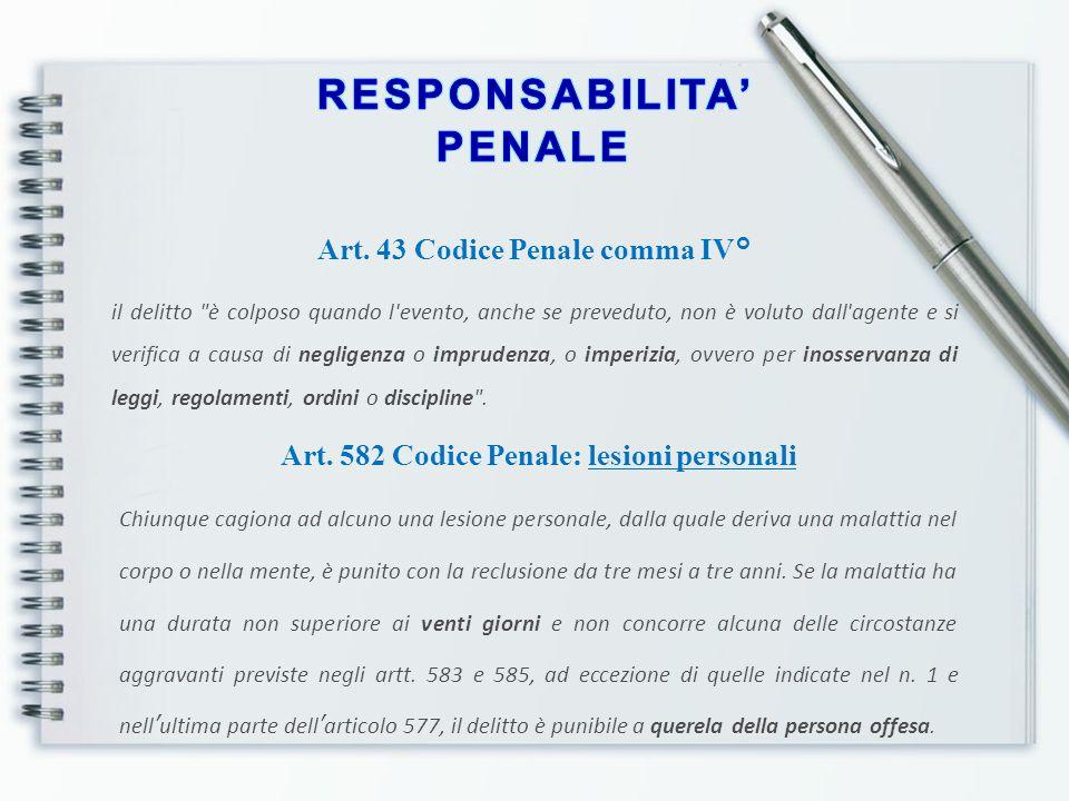 Art. 43 Codice Penale comma IV° il delitto