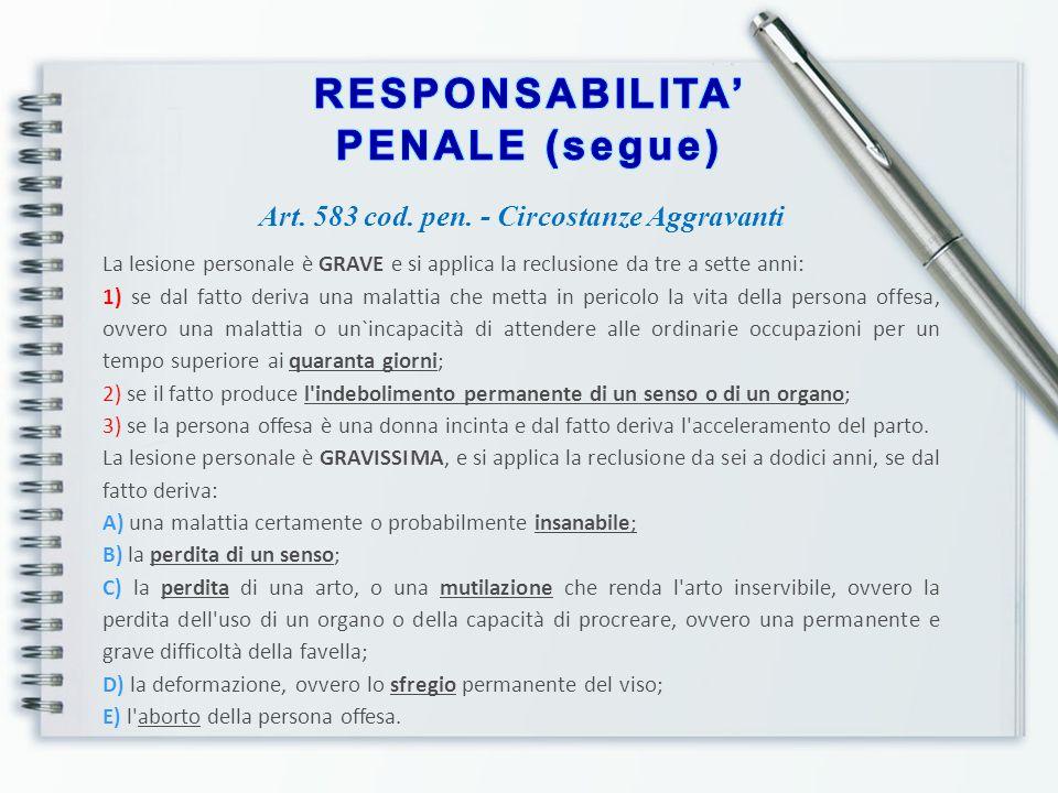 RESPONSABILITA' CIVILE CONTRATTUALE Art.1218 cod.
