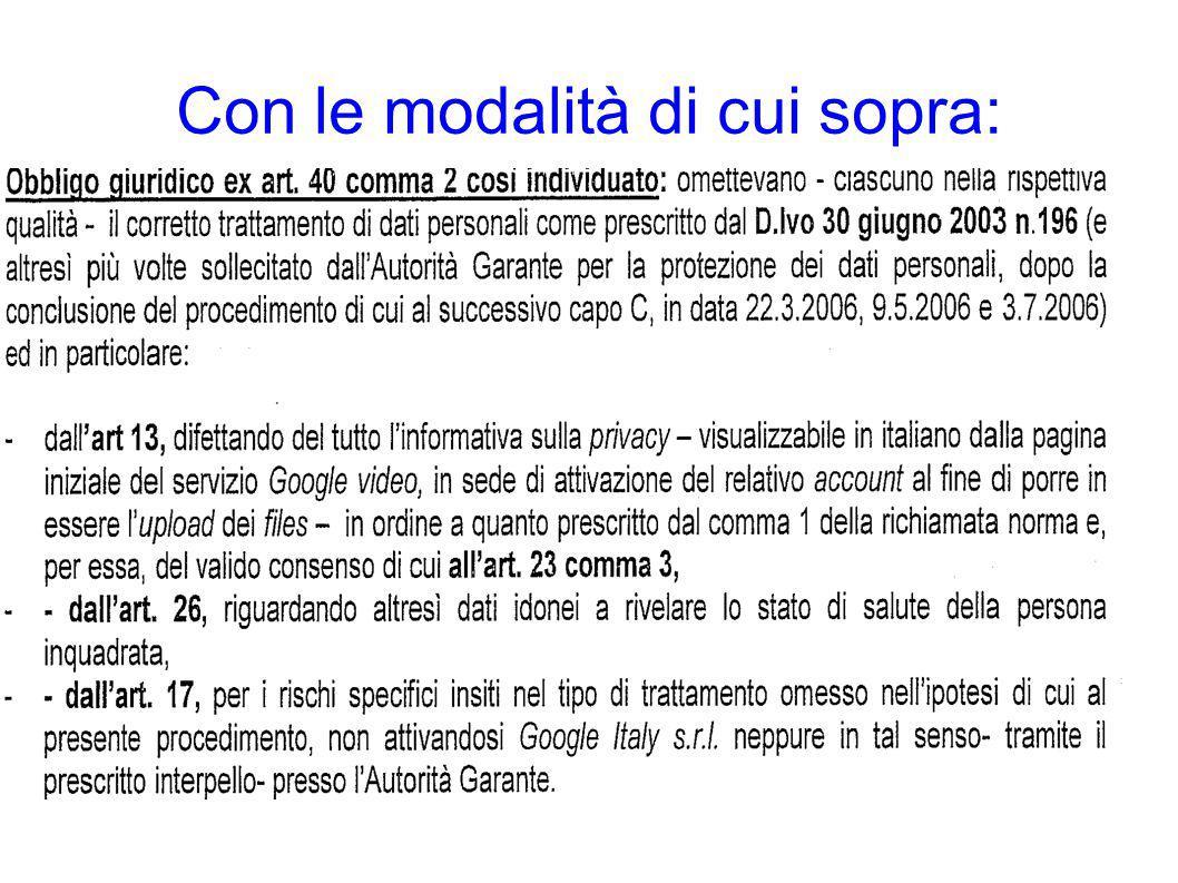 ART.167 Cod. Privacy - Trattamento illecito di dati 1.