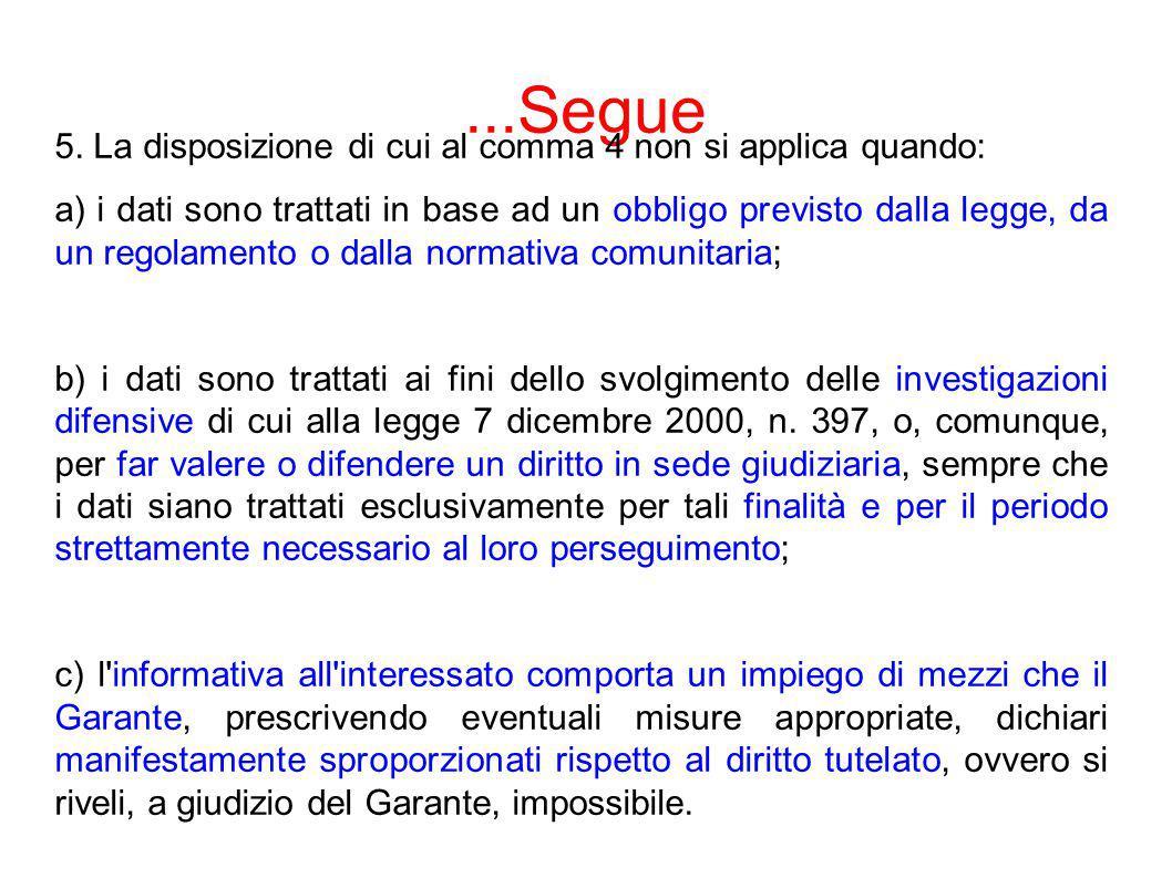 ART.23 COMMA 3 - CONSENSO 3.