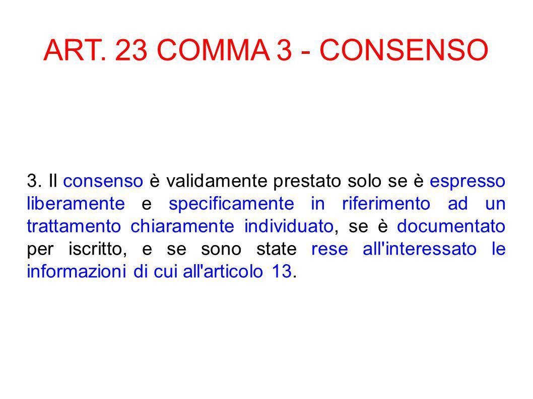 ART.26 - GARANZIE PER I DATI SENSIBILI 1.