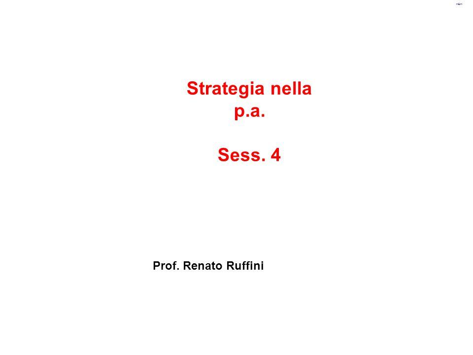 m&m Strategia nella p.a. Sess. 4 Prof. Renato Ruffini