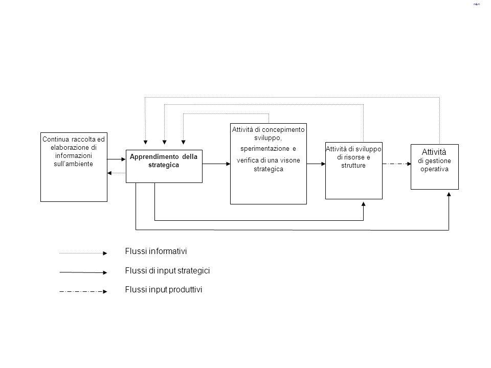 m&m Continua raccolta ed elaborazione di informazioni sull'ambiente Attività di gestione operativa Attività di sviluppo di risorse e strutture Attivit