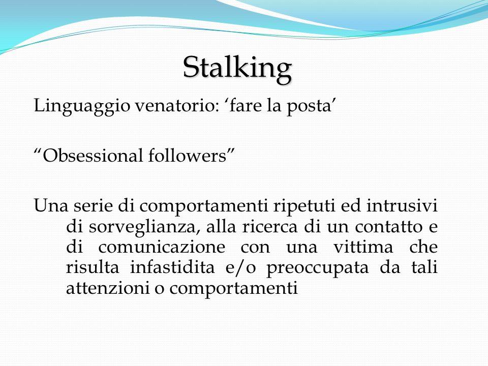 La vittima di stalking può chiedere al Questore di ammonire il persecutore affinché non ponga più in essere comportamenti lesivi della libertà, della salute, dell'equilibrio psico-fisico.