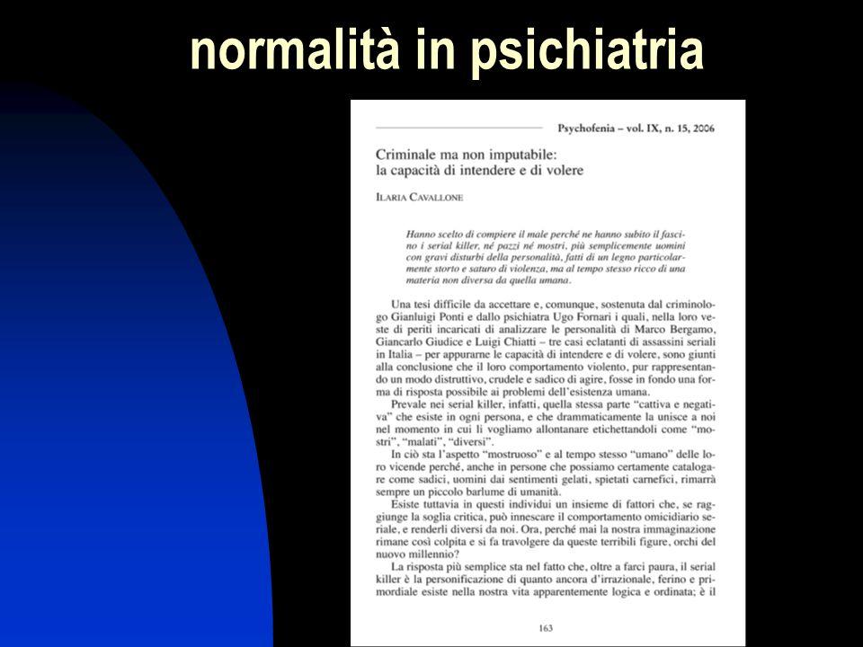normalità in psichiatria