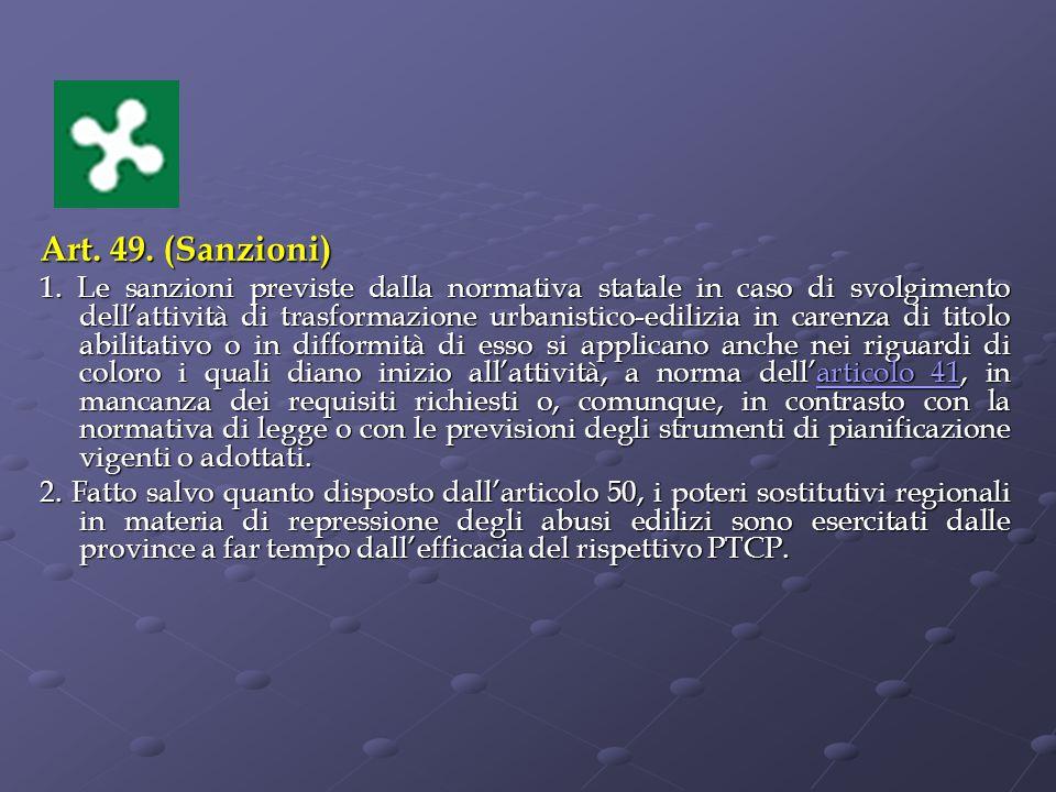 Art.49. (Sanzioni) 1.