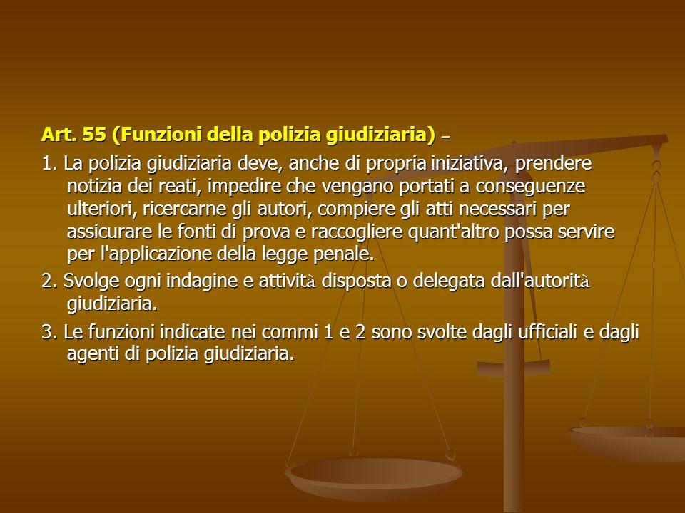 Art.55 (Funzioni della polizia giudiziaria) – 1.