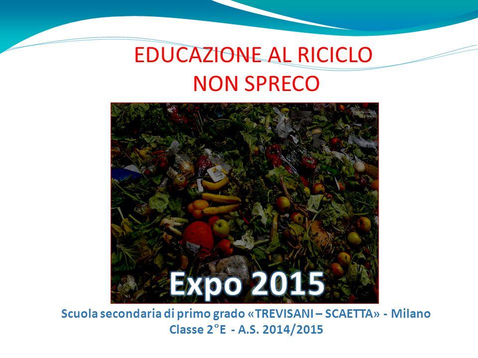 EDUCAZIONE AL RICICLO NON SPRECO Scuola secondaria di primo grado «TREVISANI – SCAETTA» - Milano Classe 2°E - A.S. 2014/2015