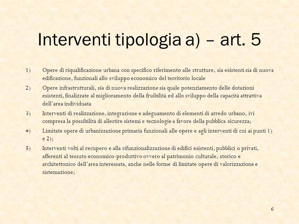 Interventi tipologia a) – art.