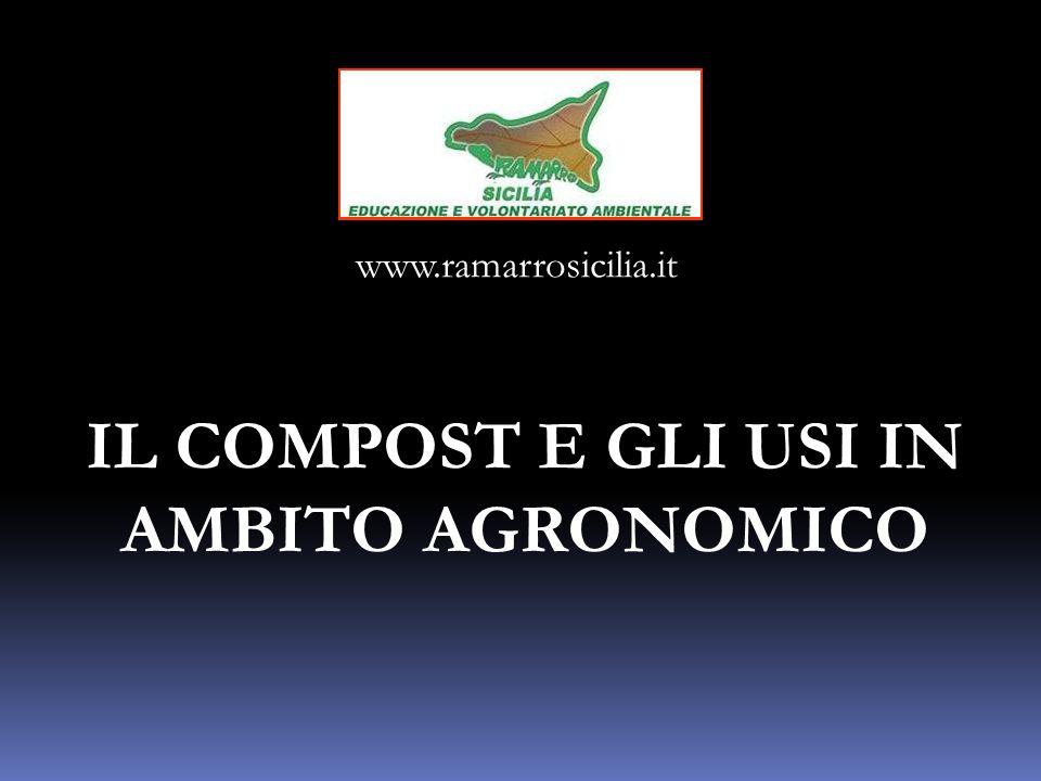 IL COMPOST E GLI USI IN AMBITO AGRONOMICO www.ramarrosicilia.it