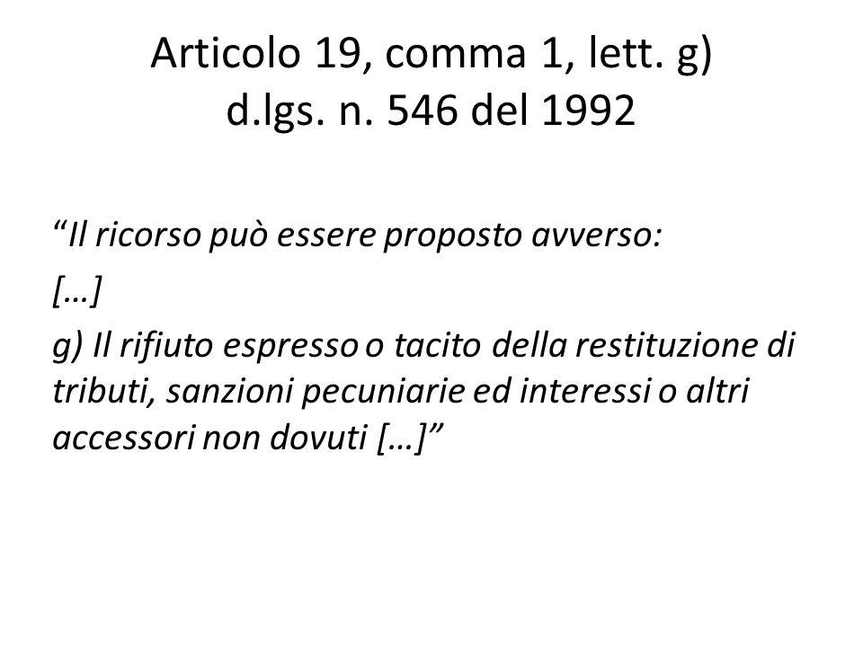Articolo 38, comma 1 d.p.r.n.