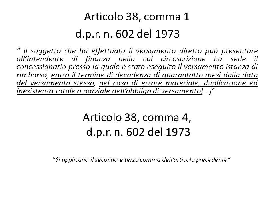Articolo 37, comma 2 d.p.r.n.