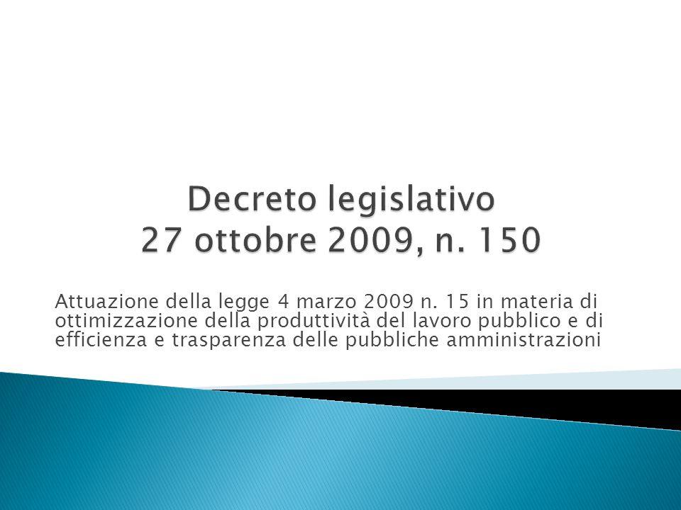 Attuazione della legge 4 marzo 2009 n.