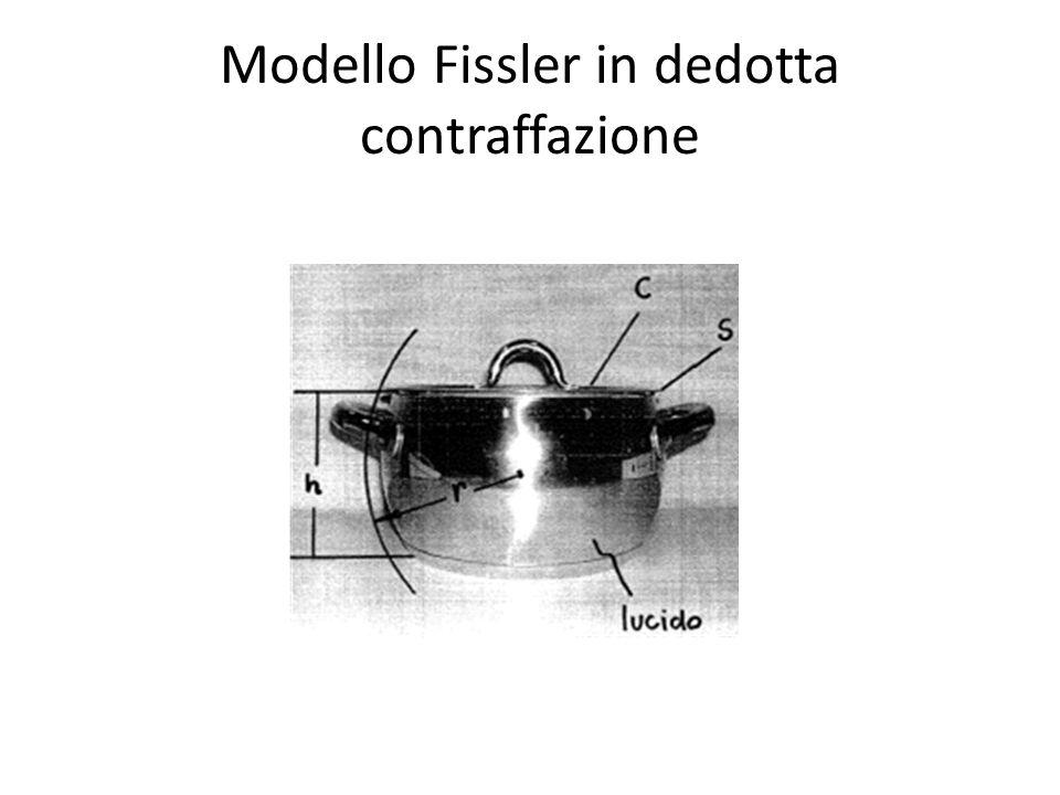 Modello Fissler in dedotta contraffazione