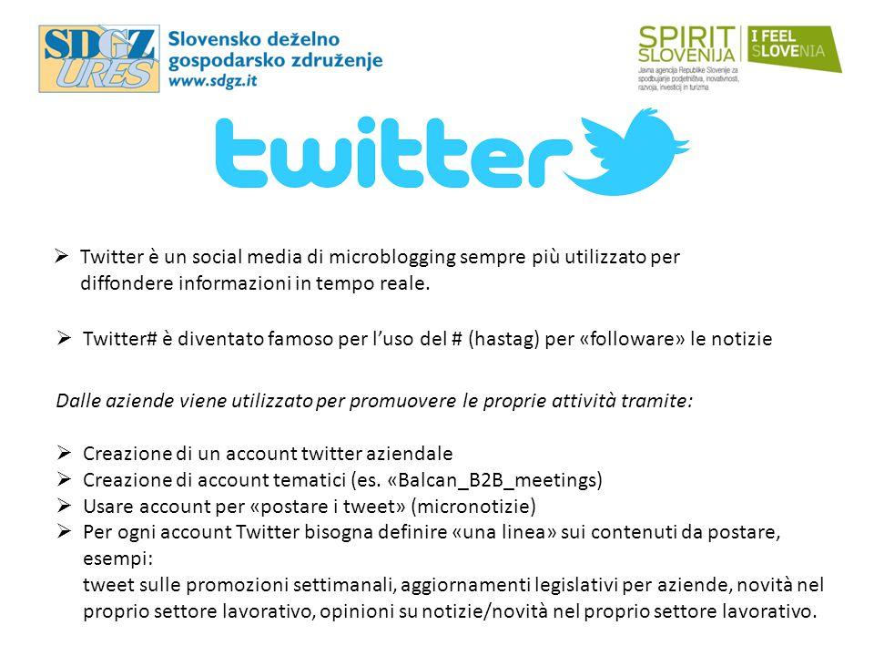  Twitter è un social media di microblogging sempre più utilizzato per diffondere informazioni in tempo reale.