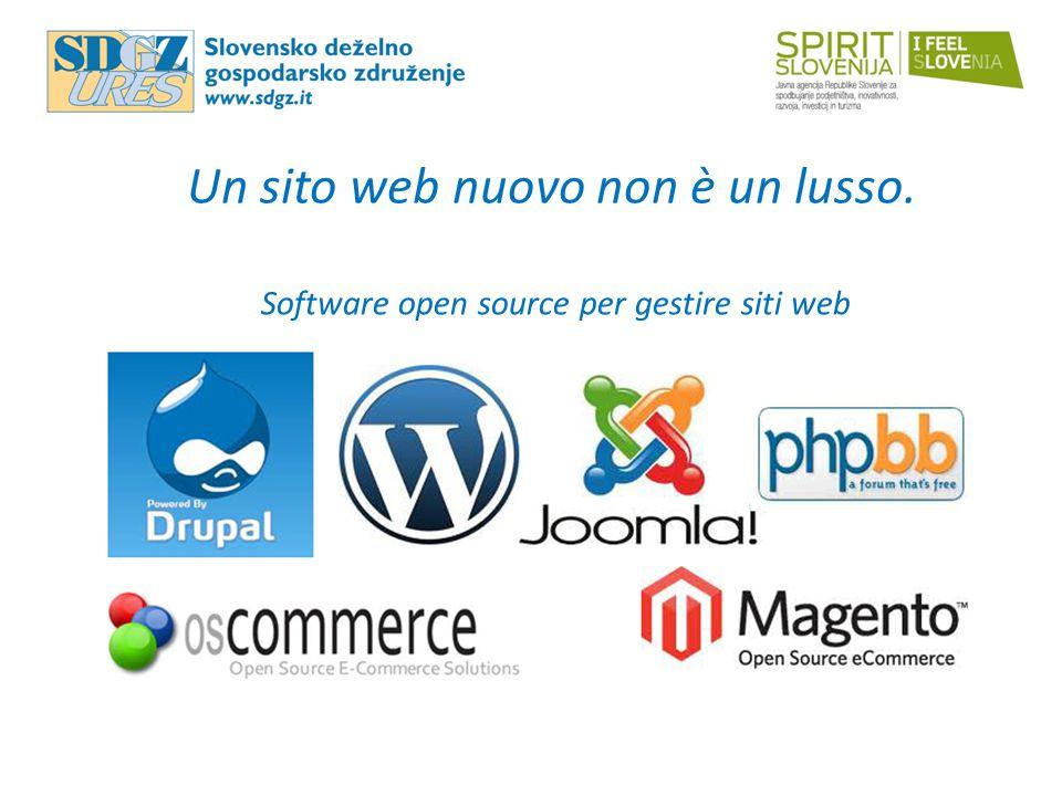 Un sito web nuovo non è un lusso. Software open source per gestire siti web
