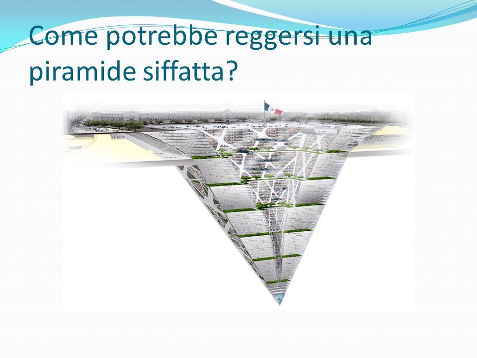 Come potrebbe reggersi una piramide siffatta?