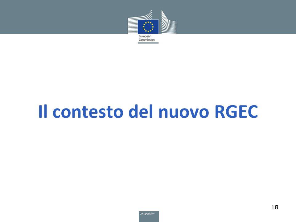 Il contesto del nuovo RGEC 18