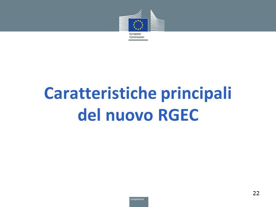 Caratteristiche principali del nuovo RGEC 22