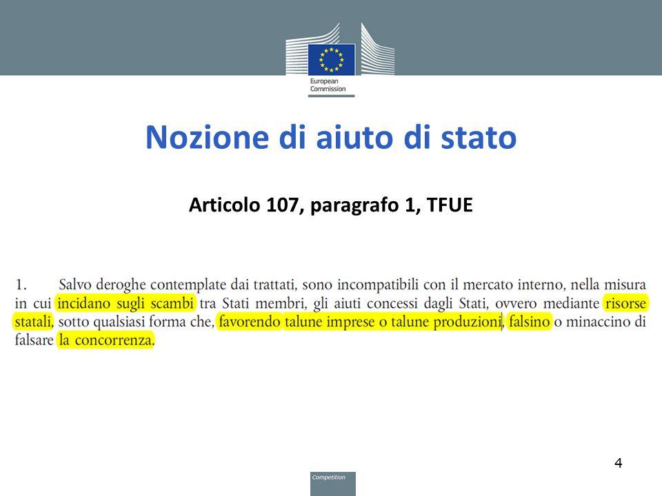 Nozione di aiuto di stato Articolo 107, paragrafo 1, TFUE 4