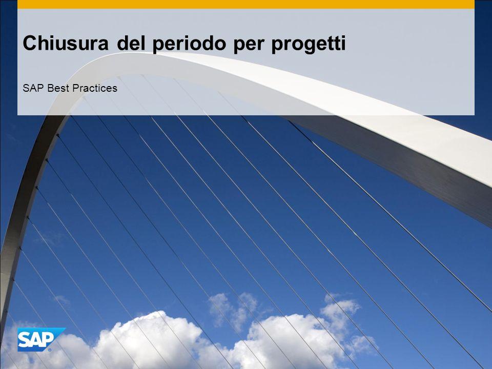 Chiusura del periodo per progetti SAP Best Practices