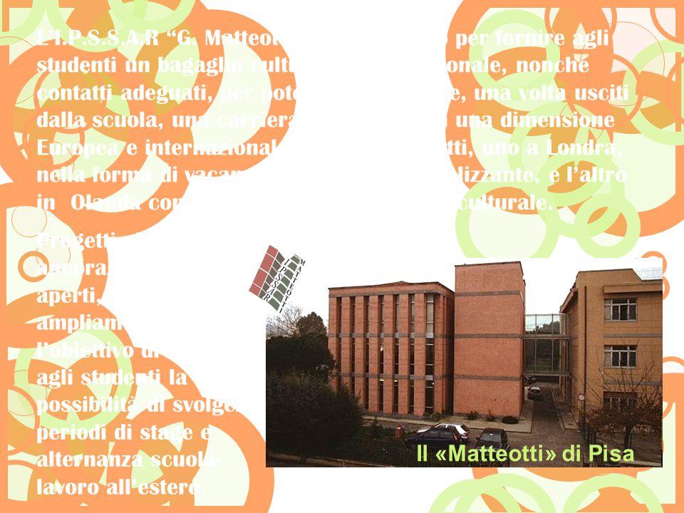 """L'I.P.S.S.A.R """"G. Matteotti"""" sta lavorando per fornire agli studenti un bagaglio culturale e professionale, nonché contatti adeguati, per poter intrap"""