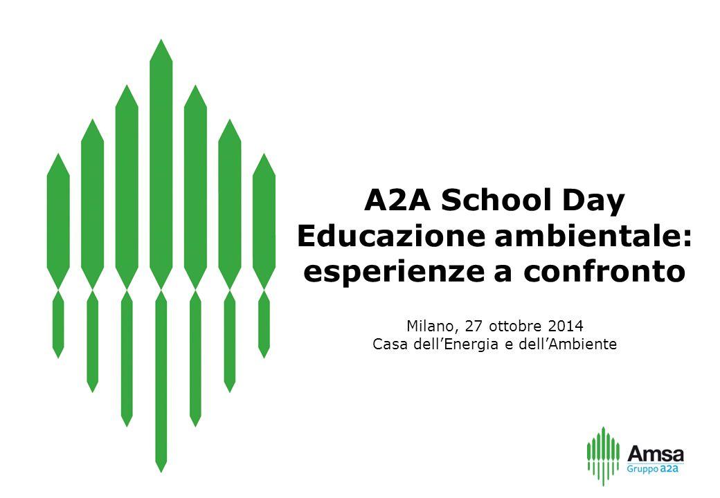 Milano, 27 ottobre 2014 Casa dell'Energia e dell'Ambiente A2A School Day Educazione ambientale: esperienze a confronto